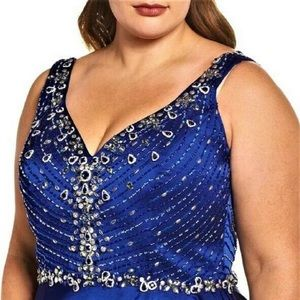 Royal Blue Mac Duggal Gown 16w